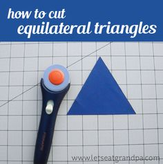 Having a hard time cutting triangles for your sewing projects? This method makes it simple!