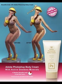 Adobe Photoshop Body Cream by George Pourikas