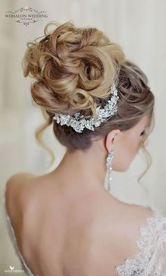 30 Most Romantic Bridal Updos & Wedding Hairstyles ❤ See more: http://www.weddingforward.com/romantic-bridal-updos-wedding-hairstyles/ #weddings #hairstyles