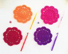 aaand coasters, of course! Knitting Yarn, Scarfs, Coasters, Crochet Earrings, Flowers, Handmade, Instagram, Scarves, Hand Made