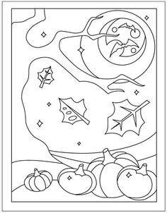 Halloween Coloring Page For The Early Finishers PDF Download