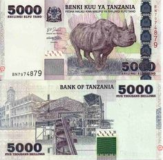 Billete de Tanzania - Banknote of Tanzania - 5000 Shillings 2003 Best Movies List, Money For Nothing, Thinking Day, Flags Of The World, World Coins, Country Art, Tanzania, Postage Stamps, African