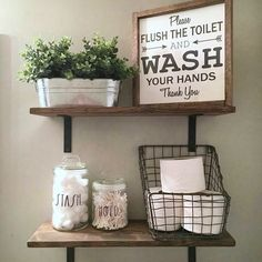 The Foolproof Bathroom Shelf Decor Over Toilet Half Baths Strategy 16 Diy Bathroom, Farmhouse Decor, Rustic Bathroom Decor, Farmhouse Bathroom Decor, Decor, Bathroom Decor, Bathroom Shelf Decor, Farmhouse Bathroom, Shelf Decor