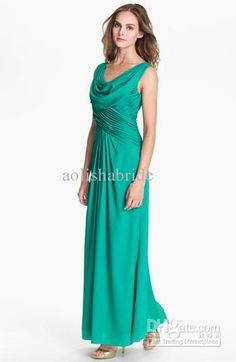Wholesale Mother Bride - Buy Mother of the Bride Dresses Evening Dresses 2013 Ruffle V Neck Chiffon Ankle Length Elegant B132, $121.5 | DHgate