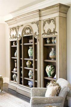Berkshire Bookcase From Habersham Furniture Painted Plantation Building Shelves