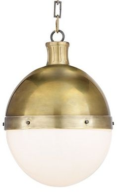 Hicks Pendant, Hand-Rubbed Brass - Ceiling Lights & Fans - Indoor and Outdoor Lighting - Lighting   One Kings Lane