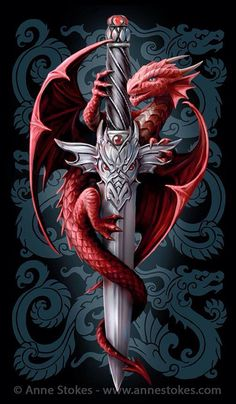 The Dragon and the Sword, I think that would be a good name for it since I don't know the proper name of it.