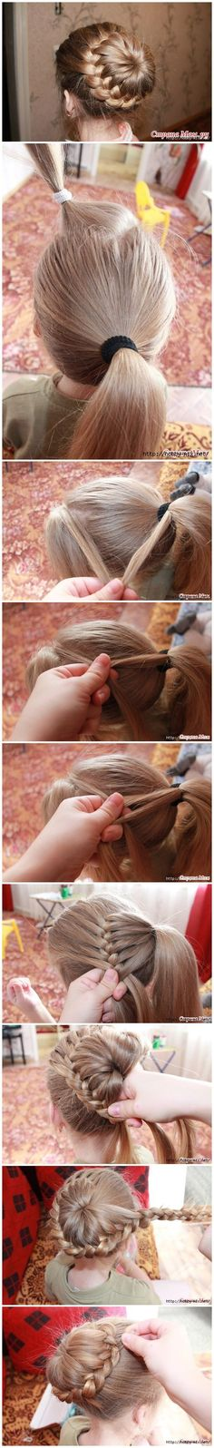 Do you or someone in your family have long hair? Are you looking for a new hairstyle to have a different look? How about the one - Weave braids around tail?