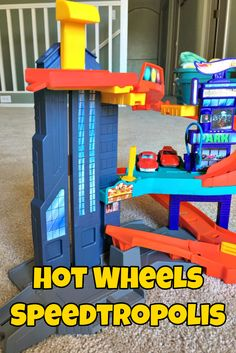 The Hot Wheels Speedtropolis Playset - The Hip Place to Hang Out - If You're a Hot Wheels Car!