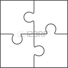 giant blank puzzle pieces invitation templates autism puzzle