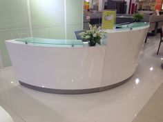 Office Table Price, Round Office Table, Office Table And Chairs, Office Table Design, Office Furniture Design, Office Desk, Curved Reception Desk, Reception Desk Design, Reception Counter