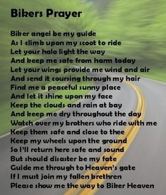 For all my friends who ride