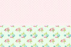 Convite,Cartão Floral Verde e Rosa