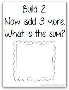 FREE Build It Addition Cards for 1-5.