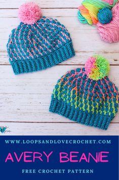 Crochet Hat For Women, Crochet Kids Hats, Love Crochet, Crochet Yarn, Easy Crochet, Crochet Headbands, Knit Hats, Double Crochet, Single Crochet