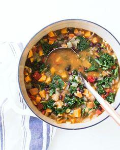 Hearty Sweet Potato and Kale Soup