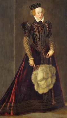 Johanna of Austria, I have other versions which suggest this gown is more purple or mulberry than red as it shows here