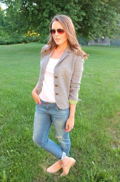 Penny Pincher Fashion: DIY Blazer Makeover