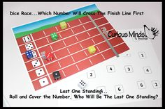 PDF File - YOU PRINT - Dice Race - Number Recognition Busy Bag - Toddler and Preschool Learning Toy - Educational Activity