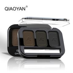 High Quality Eyebrow Powder Eye Brow Enhancer 3-Colors Brow Palette With Blush Eyebrow Makeup Maquiagem Eye Brow Powder