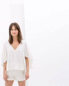 Image 1 of CAPE BLOUSE WITH LOW BACK from Zara
