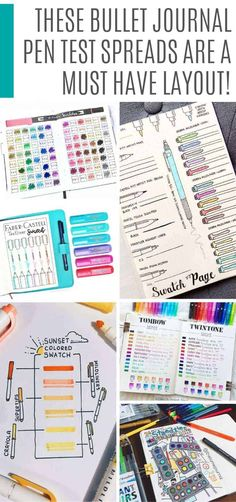 Bullet Journal Pen Test Spreads You& Want to Try for Yourself! > > > Bullet Journal Pen Test Spreads You'll Want to Try for Yourself!Bullet Journal Pen Test Spreads You'll Want to Try for Yourself! Bullet Journal Layout Templates, Bullet Journal Ideas Pages, Bullet Journal Inspiration, Free Pen, Bullet Journal Tracker, Pen Collection, Cute Pens, Best Pens, Printable Planner