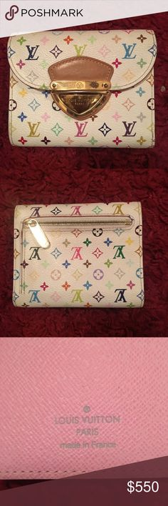 Authentic Louis Vuitton Joy tri-fold wallet This is an authentic Louis Vuitton wallet. Only used for a  month or two. Very good condition, the ID window inside is the only part that is a little worn. Louis Vuitton Bags Wallets