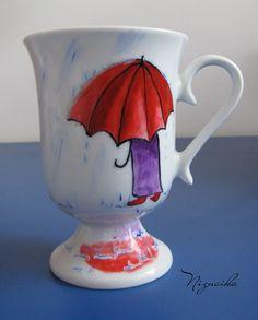 painted mug4 Mugs, Paper, Wood, Tableware, Glass, Painting, Dinnerware, Woodwind Instrument, Drinkware