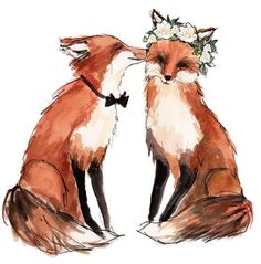 Tiere fuchs would be adorable for the invitations. But Id have to add a Mason fox of course - Fuchs Illustration, Art And Illustration, Illustrations, Art Fox, Fuchs Baby, Inspiration Art, Spirit Animal, Amazing Art, Art Drawings