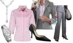 Pale gray pinstripe suit