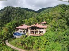 Rent this villa for the week, 36 acres of Rain forest with Panoramic Ocean Views. VillaMareas.com 9 Luxury Suites.