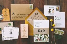 Rustic and Woodland Watercolor Camp Vibes by WideEyesPaperCo