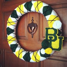 #Baylor wreath! (via @Allison White, made by her cousin, @spiralsspatulas)