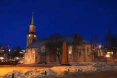 https://flic.kr/p/mgMyFM | Norway Arctic - Tromso / Tromsø Cathedral | <b>Tour to Norway Arctic. Day 04 Tromsø Cathedral</b>  A big advantage being a photographer up North in the dark time of the winter is that you do not need to wait long to have the blue hour. Like here the clock is not yet 4PM and the blue hour is already present. This photo is of the fine wood church Tromsø Cathedral placed right in the center of the town.  <i>Some more info from Wiki: Tromsø Cathedral (Norwegian…