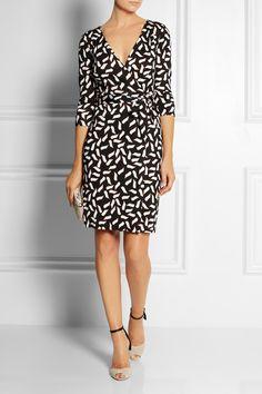 Diane von Furstenberg|New Julian printed silk-jersey wrap dress.. I love! DVF dresses never go out of style..