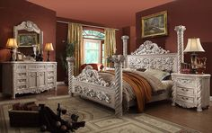 Victorian Bedroom Sets..this is beautiful but I would want dark wood.