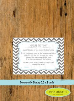 INSTANT+UPLOAD++Baby+Shower+Game+Chevron+Gray+&+by+PaperEtiquette,+$5.00