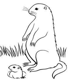 Groundhog Day Was With Kids Coloring Pages