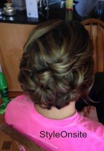 bridal updo, weeding hair, curls, twisted sides, prom, formal hairstyles