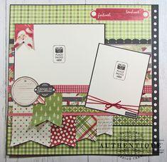 Scrapbook Sketches, Scrapbook Page Layouts, Scrapbook Cards, Christmas Scrapbook Layouts, Pocket Scrapbooking, Banner Shapes, Bridal Shower Scrapbook, Scrapbook Supplies, Vintage Christmas