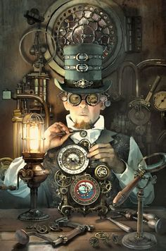 Safari Steampunk Anyone? Steampunk is a rapidly growing subculture of science fiction and fashion. Steampunk Cosplay, Viktorianischer Steampunk, Steampunk Kunst, Steampunk Artwork, Steampunk Gadgets, Steampunk Clothing, Steampunk Makeup, Steampunk Drawing, Steampunk Crafts