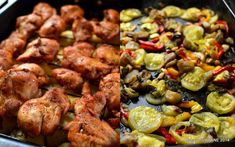 Piept de curcan cu legume la cuptor. Curcan sau pui, cartofi rumeni si legume coapte in tava. Un pranz sau o cina rapida - pentru toata familia! Si copiii