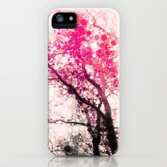 Tree Silhouette 2 iPhone & iPod Case by Olivia Joy StClaire - $35.00 samsung case, phone case, iphone case, accessory, phone accessory, modern, contemporary, trendy, pink, black, tree, art, abstract, nature, colorful, bold, bright, happy, girly. fashion