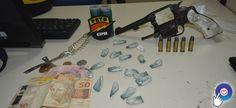 Policia Militar localiza menor de idade com arma e drogas em Prado
