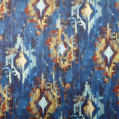 Bohemia - Sapphire fabric, from the Decadence collection by Prestigious Textiles Stuart Graham, Prestigious Textiles, Upholstery, Vibrant, Colours, Pattern, Prints, Painting, Collection