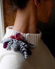 Brooch number ninety-something. Made in freeform crochet workshop last weekend. Diy Jewelry, Handmade Jewelry, Unfinished Business, Freeform Crochet, Girl Gang, Fiber Art, Crochet Projects, Stitch, Macrame