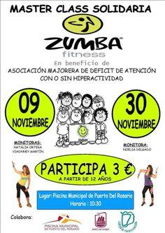 zumba solidaria en #Fuerteventura Master class: 3€