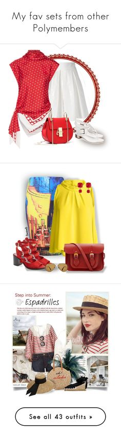 """""""My fav sets from other Polymembers"""" by asia-12 ❤ liked on Polyvore featuring Boutique Moschino, Monse, MICHAEL Michael Kors, Summer, top, officestyle, WithChic, Topshop, Conquista and The Cambridge Satchel Company"""