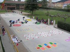Playground painting ideas - Aluno On Backyard Games, Outdoor Games, Outdoor Fun, Preschool Playground, Playground Games, Outdoor Education, Outdoor Learning, Playground Painting, Outside Games