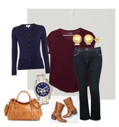 """Fall 2"" by sofia-rios on Polyvore featuring LOFT, Sevil Designs, Dooney & Bourke, Linea, M&Co and American Eagle Outfitters"